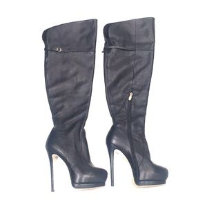 Chinese Laundry Elise Leather Thigh High Boots